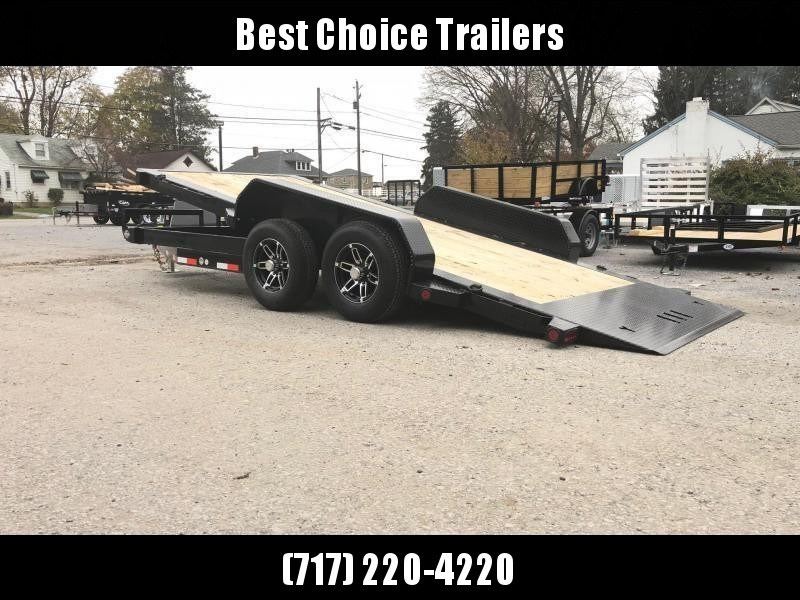 2020 Ironbull 7x16' Equipment Trailer 9990# GVW - POWER TILT * TORSION * ALUMINUM WHEELS