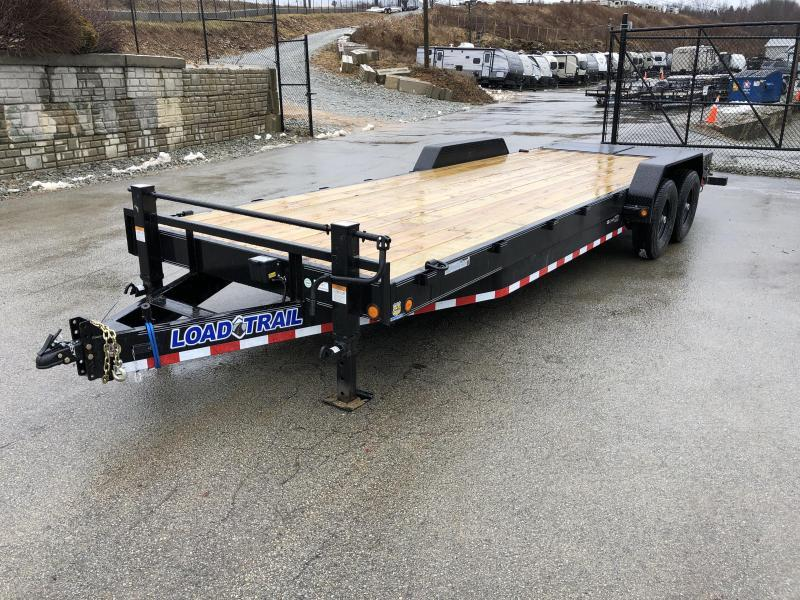 "2020 Load Trail 7x24' Equipment Trailer 14000# GVW * CH8324072 * 8"" TONGUE & FRAME * DUAL JACKS * FULL WIDTH MAX RAMPS * D-RINGS * COLD WEATHER * DEXTER'S * 2-3-2 * POWDER PRIMER"