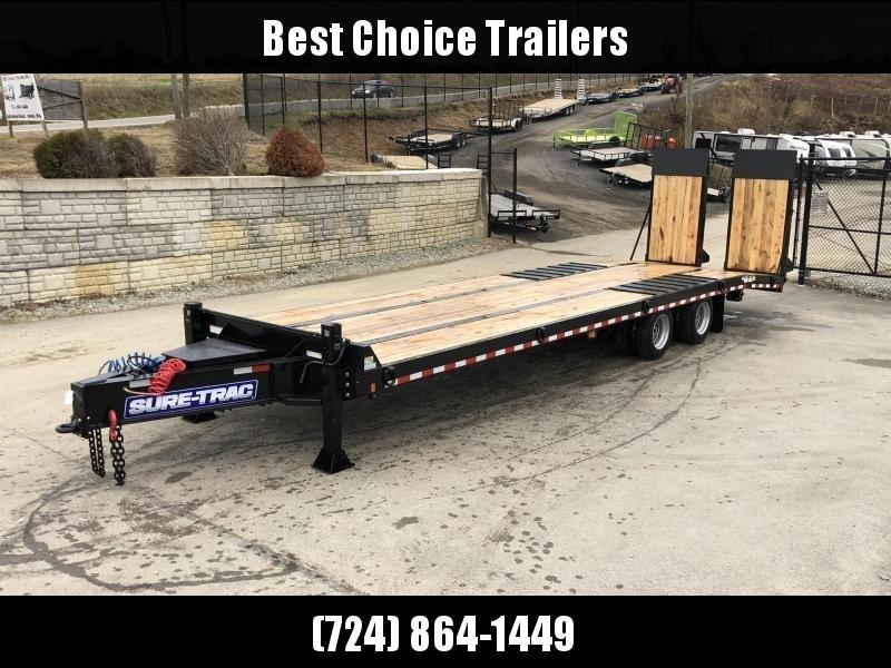 2020 Sure Trac  102x22+7' Air Brake Beavertail Deckover Trailer 49000# GVW * ST102245ABDO2A-B-490 * AIR RAMPS 40x80 * 7.5' DOUBLE BROKE BEAVERTAIL
