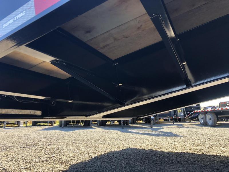 2020 Sure Trac  102x24+7.5' Air Brake Beavertail Deckover Trailer 49000# GVW * ST102245ABDO2A-B-490 * AIR RAMPS 40x80 * 7.5' DOUBLE BROKE BEAVERTAIL