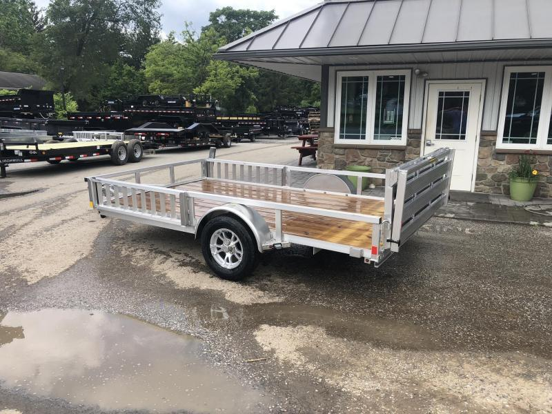 2020 H&H 7x12' RSAV Aluminum ATV Utility Landscape Trailer 2990# GVW * BI FOLD GATE * ALUMINUM WHEELS * ATV SIDE RAMPS