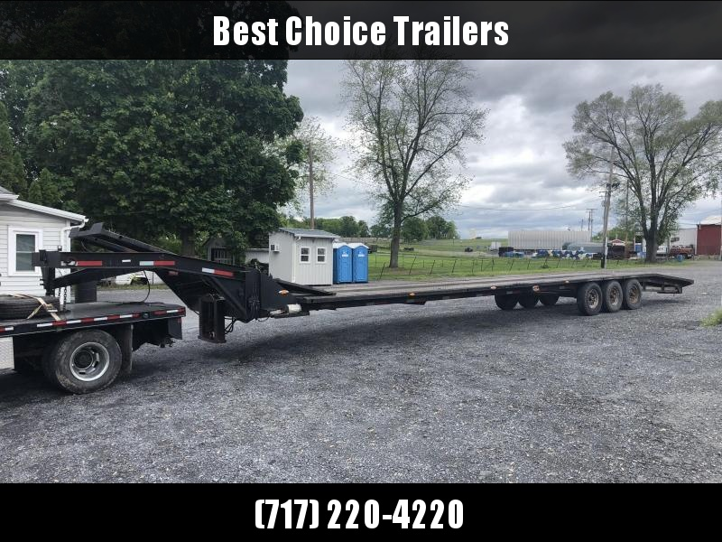 USED EZ Loader 4-Car Hauler 53' Trailer * TORSION * HYDRAULIC JACKS * HYDRALIC BRAKES * HYDRAULIC LIFT * 14-PLY TIRES * ALUMINUM RAMPS
