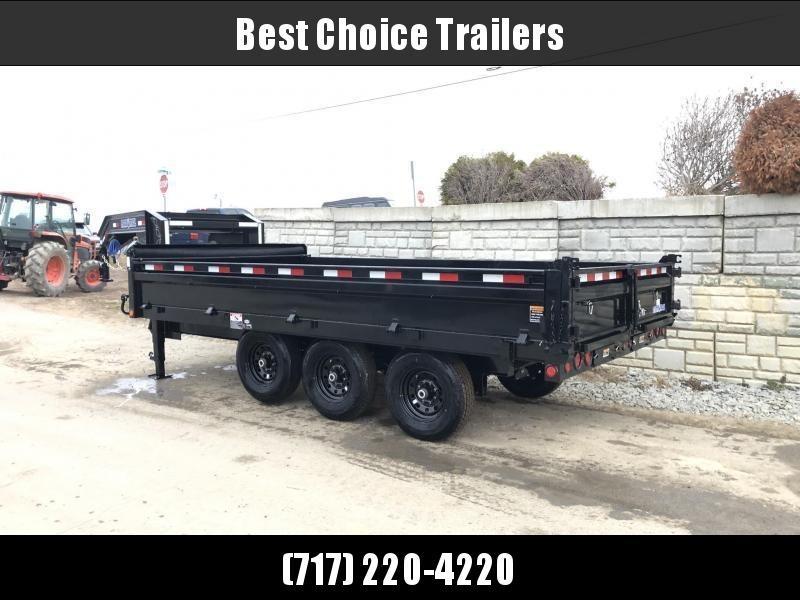 2020 Load Trail  Dump Trailer * GZ9616073 * 3' SIDES *  I-BEAM FRAME * TARP * SCISSOR * FOLD DOWN SIDES * 3-WAY GATE