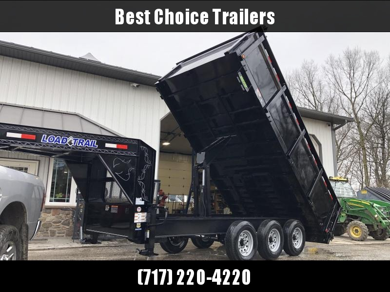 "2020 Load Trail 8x16' Gooseneck High Side Deckover Dump Trailer 21000# GVW * 3' HIGH SIDES * TRIPLE AXLE * DUAL 12K JACKS * FULL TOOLBOX * 10"" I-BEAM FRAME * TARP KIT * SCISSOR HOIST * 3-WAY GATE * 6"" TUBE BED FRAME * 10GA SIDES/FLOOR * PRIMER * DEXTER'S"