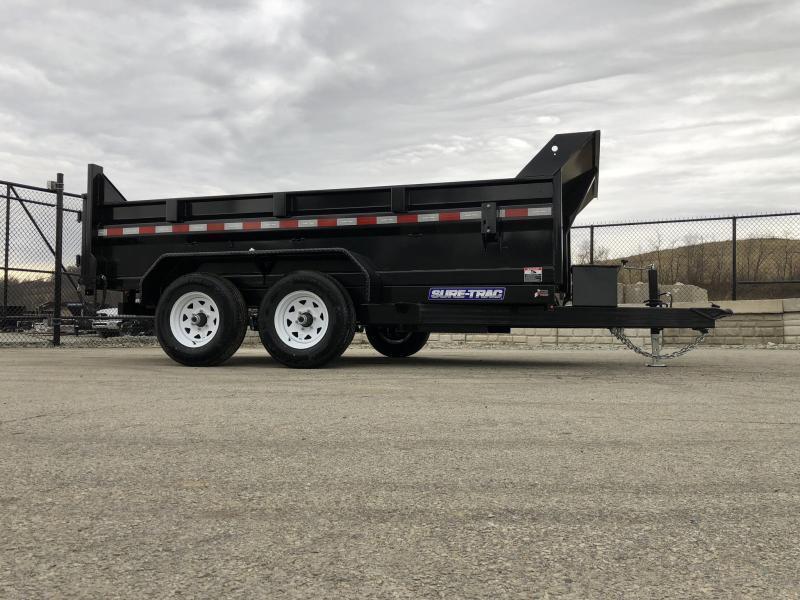 2019 Sure-Trac 7x12' LowPro Dump Trailer 12000# * DUAL PISTON - BASE * CLEARANCE