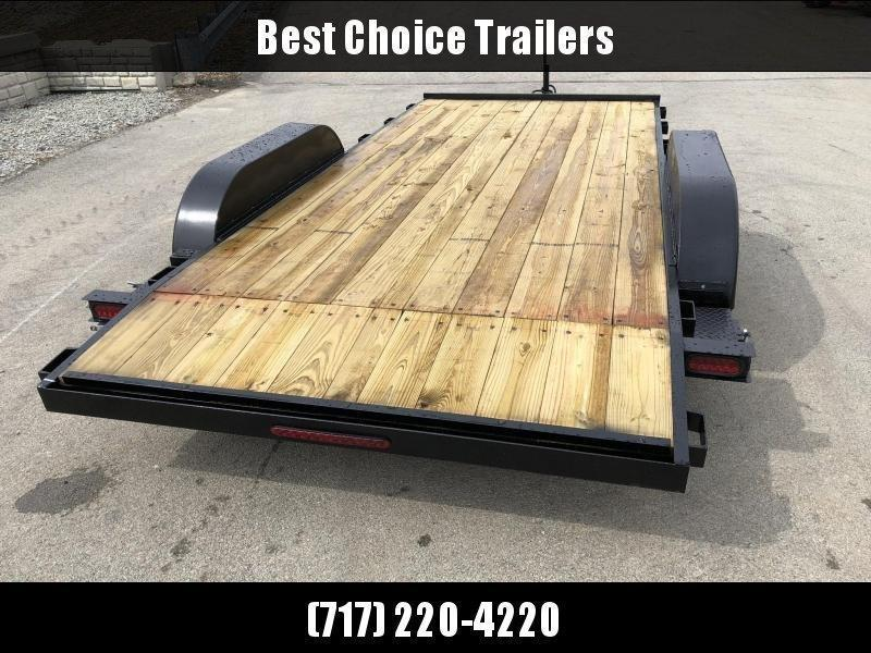 2020 AMO 7x16' Wood Deck Car Trailer 7000# GVW * LED TAIL LIGHTS