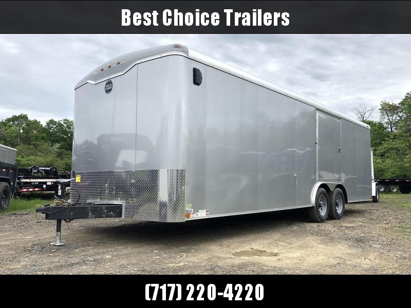 2019 Wells Cargo 8.5x24' RoadForce Enclosed Car Trailer 9990# GVW * SILVER EXTERIOR * RAMP DOOR * TORSION * ESCAPE HATCH * ROUND TOP * SCREWLESS