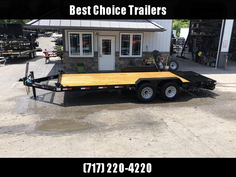 2019 Ironbull 7x20' Equipment Trailer 14000# GVW * FULL WIDTH RAMPS * I-BEAM FRAME * CHAIN TRAY * D-RINGS * REMOVABLE FENDERS * CLEARANCE