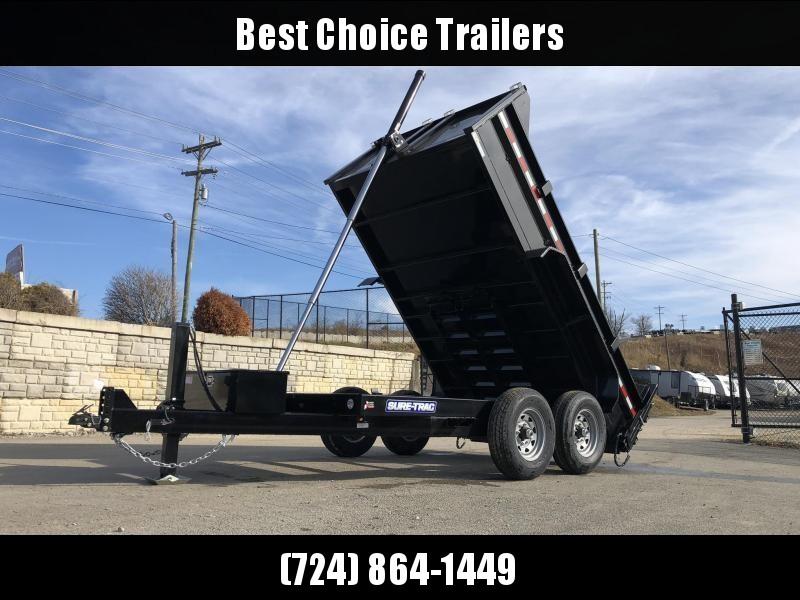 2020 Sure-Trac 7x12' Deluxe Dump Trailer 12000# GVW * TELESCOPIC HOIST * 7 GA FLOOR * HYDRAULIC JACK