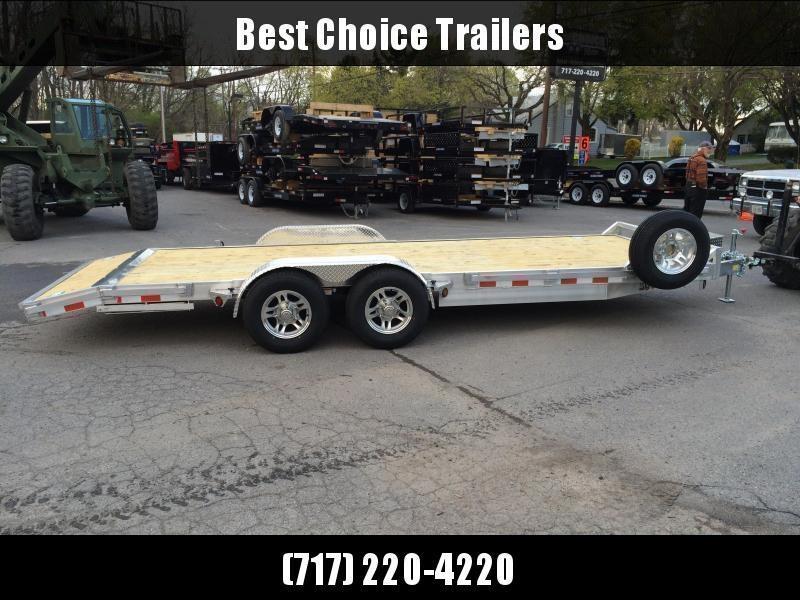 2020 QSA 7x20' Aluminum Car Trailer 9850# GVW