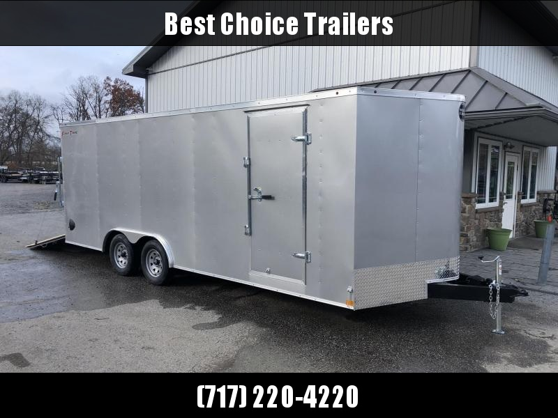 2020 Wells Cargo 8.5x20' Fastrac DELUXE Enclosed Car Trailer 7000# GVW * SILVER EXTERIOR * RAMP DOOR * .030 METAL