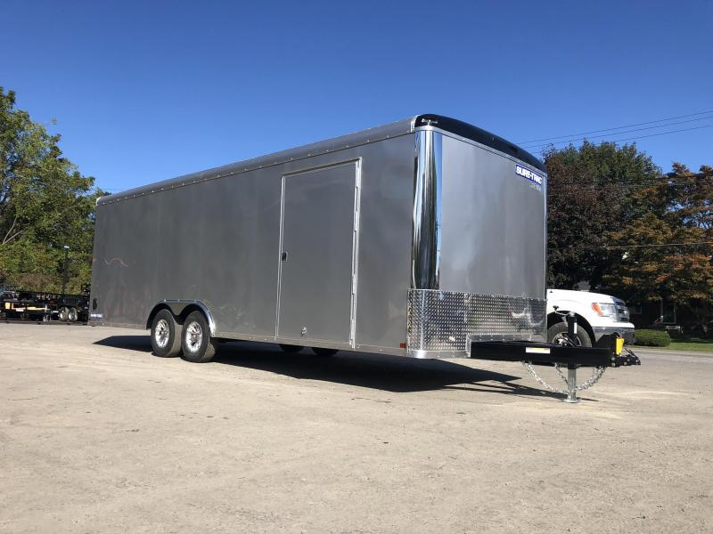"2020 Sure-Trac 8.5x24 Round Top Car Hauler 9900# GVW * SILVER * 7' HEIGHT * ADJUSTABLE COPULER * DROP LEG JACK * SUPER DUTY RAMP * INTEGRATED KNIFE EDGE * TORSION SUSPENSION * 12"" O.C."