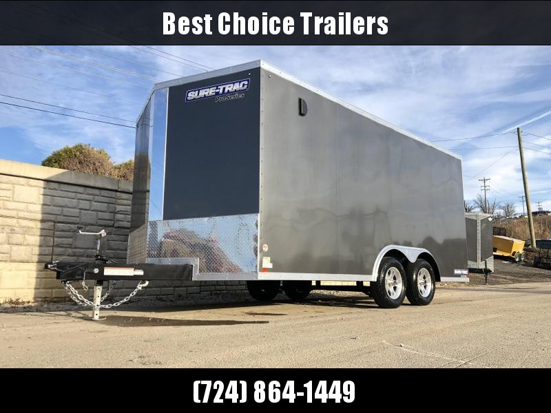 2019 Sure-Trac 8.5x16' Enclosed Cargo Trailer 7000# GVW * CHARCOAL