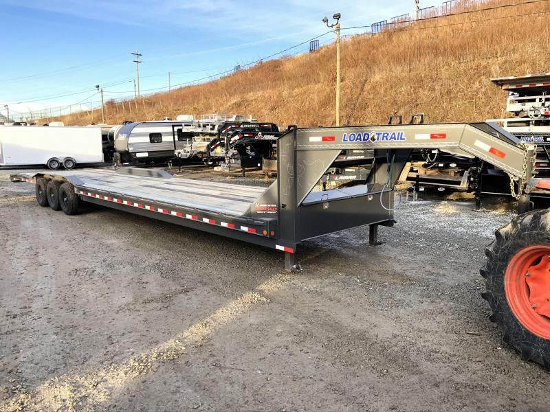 "USED 2019 Load Trail 102x40' Gooseneck Car Hauler Trailer 21000# * 102"" DECK * DRIVE OVER FENDERS * CHARCOAL * WINCH PLATE * RUBRAIL"