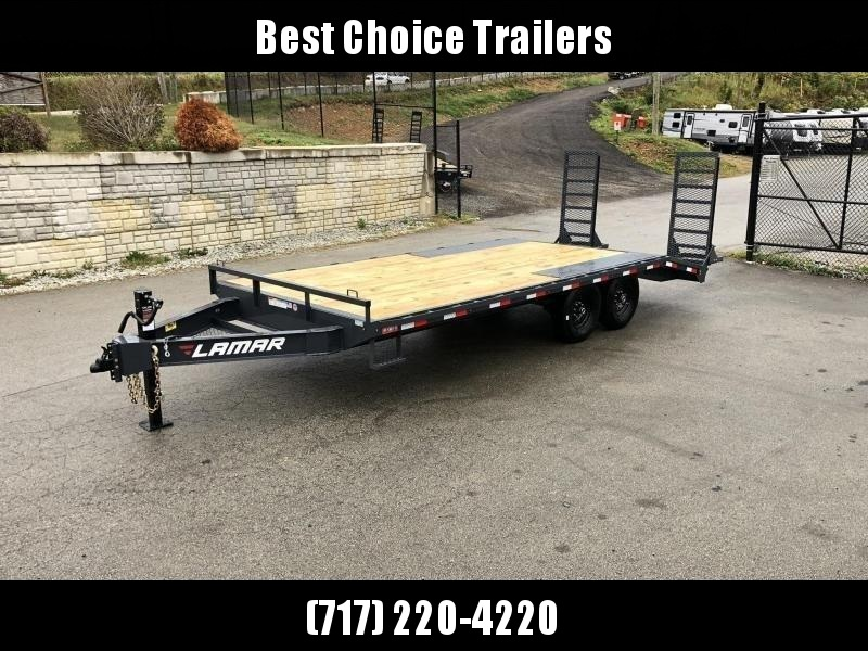 """2020 Lamar 102x20' Beavertail Deckover Trailer 14000# GVW * DELUXE OVERWIDTH RAMPS W/ MESH FACE + SPRING ASSIST  * CHARCOAL * TOOL TRAY * HD COUPLER * I-BEAM FRAME * 16"""" O.C. C/M * RUBRAIL/STAKE POCKETS/PIPE SPOOLS * CHANNEL SIDE RAIL * 4X8"""" TUBE BUMPER"""