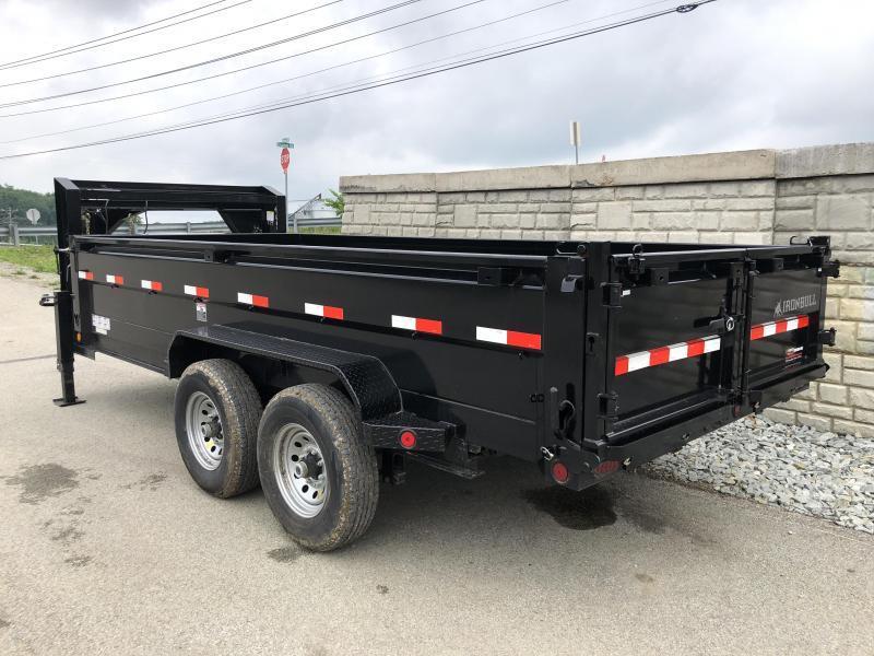 2019 Ironbull 7x16' Gooseneck Dump Trailer 14000# GVW * TARP KIT * SCISSOR