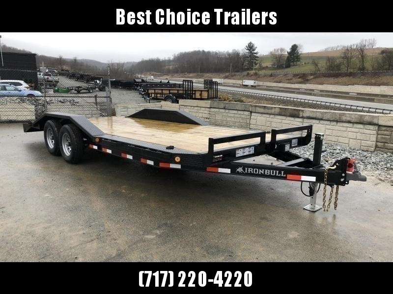 "2019 Ironbull 102""x22' Wood Deck Car Trailer 9990# GVW * 102"" DECK * DRIVE OVER FENDERS * 16"" O.C. FLOOR * 6"" FRAME * BUGGY HAULER"