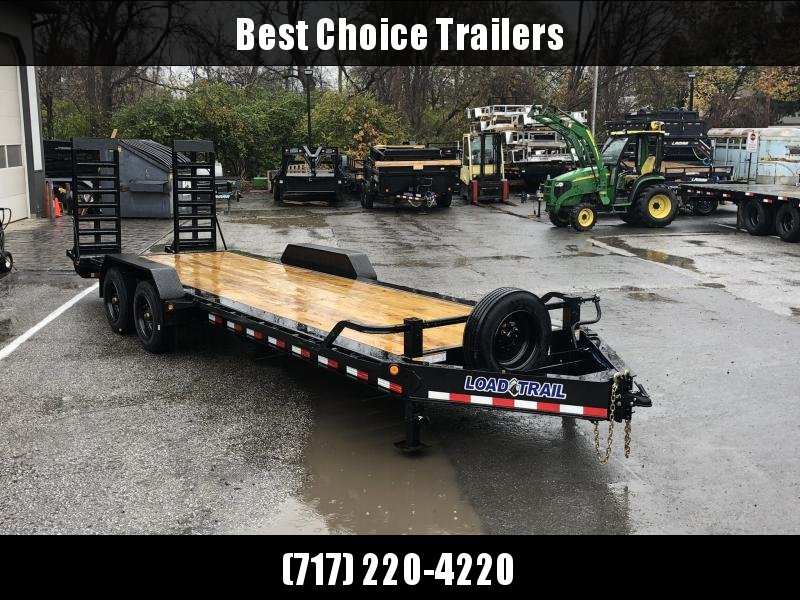 "2020 Load Trail 7x24' Super Duty Equipment Trailer 20000# GVW * EH8224102 * SUPER SINGLES * 17.5"" RUBBER * DEXTER 10K TORSION * DELUXE RAMPS * DUAL JACKS * SPARE & MOUNT"