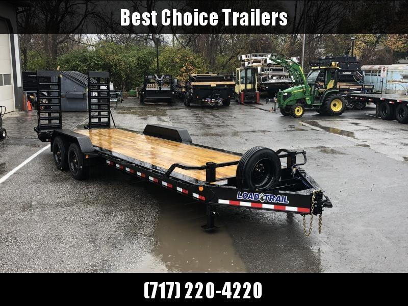 "2020 Load Trail 7x24' Super Duty Equipment Trailer 20000# GVW * EH8224102 * SUPER SINGLES * 17.5"" RUBBER * DEXTER 10K TORSION * DELUXE RAMPS * DUAL JACKS * SPARE & MOUNT"