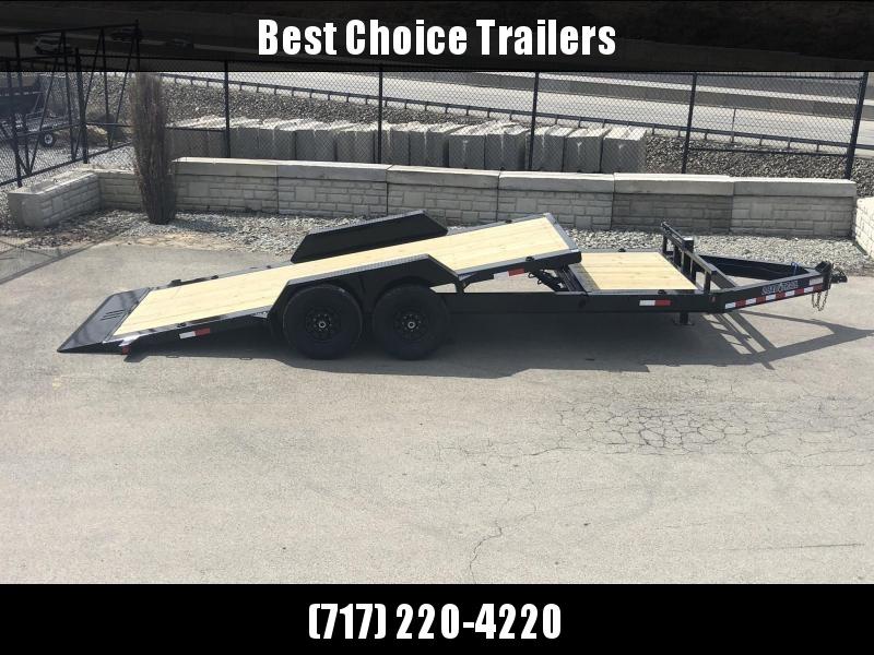 "2019 Load Trail 7x20' Gravity Tilt Equipment Trailer 14000# GVW * 16+4' SPLIT DECK * REMOVABLE FENDERS * 8"" I-BEAM MONOFRAME * DEXTER TORSION AXLES * GRAVITY TILT W/ STOP VALVE * TOOL TRAY * 2-3-2 WARRANTY * POWDER PRIMER * 12K JACK * CLEARANCE"