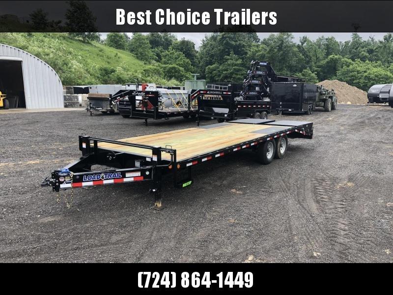 2019 Load Trail 102x24' Load Trail Beavertail Deckover Flatbed 14000# Trailer * PS0224072 * MAX RAMPS * DUAL JACKS * ZINC PRIMER * DEXTER'S * 2-3-2 WARRANTY * CLEARANCE