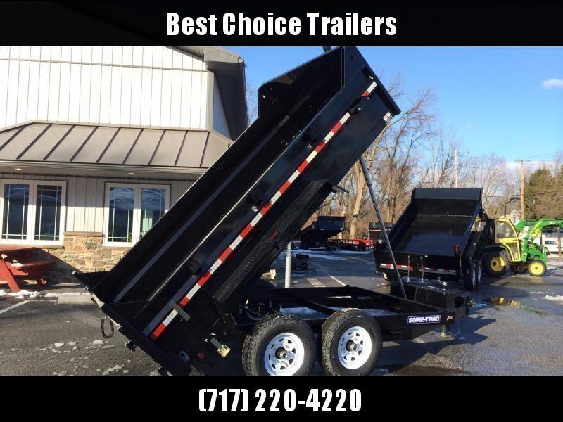 2020 Sure-Trac 7x14' LowPro HD Dump Trailer 14000# GVW - TELESCOPIC HOIST * CLEARANCE