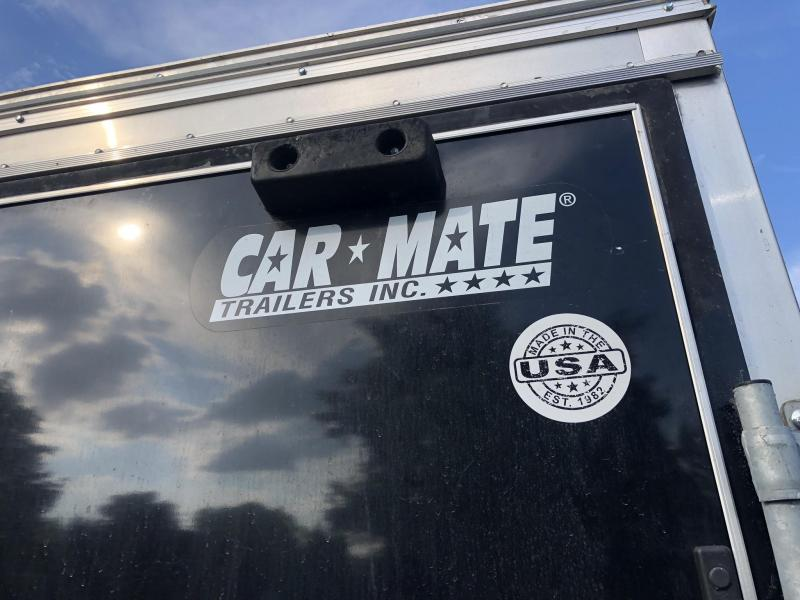 USED 2015 Car Mate 8.5x24' Enclosed Car Hauler Trailer * DEXTER'S * TORSION * CABINETS * ESCAPE DOOR