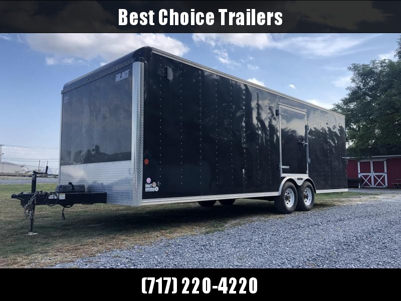 USED 2015 Car Mate 8.5x24' Enclosed Car Hauler Trailer * DEXTER'S * TORSION * CABINETS * ESCAPE DOOR