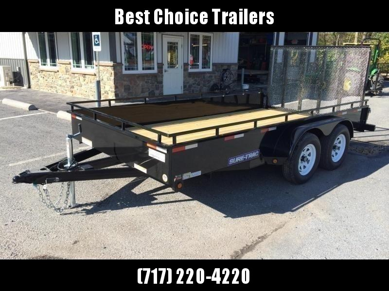 2019 Sure-Trac 7x16' Steel High Side Utility Trailer 7000# GVW * TOOLBOX