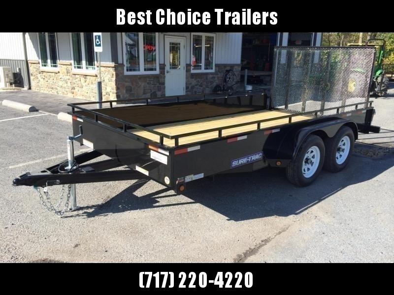 2019 Sure-Trac 7x16' Steel High Side Utility Trailer 7000# GVW * TOOLBOX * CLEARANCE