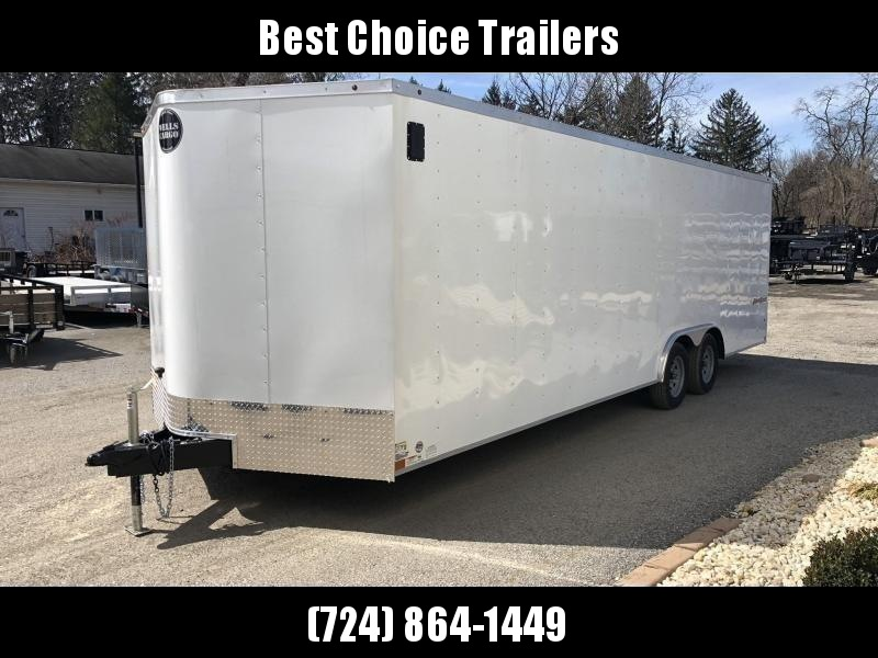"""2020 Wells Cargo 8.5x24' Fastrac DELUXE Enclosed Cargo Trailer 7000# GVW * WHITE EXTERIOR * RAMP DOOR * V-NOSE * .030 EXTERIOR * 6'6"""" HEIGHT * TUBE STUDS * 3/8"""" WALLS * 1 PC ROOF * 16"""" O.C. WALLS * BULLET LED'S"""