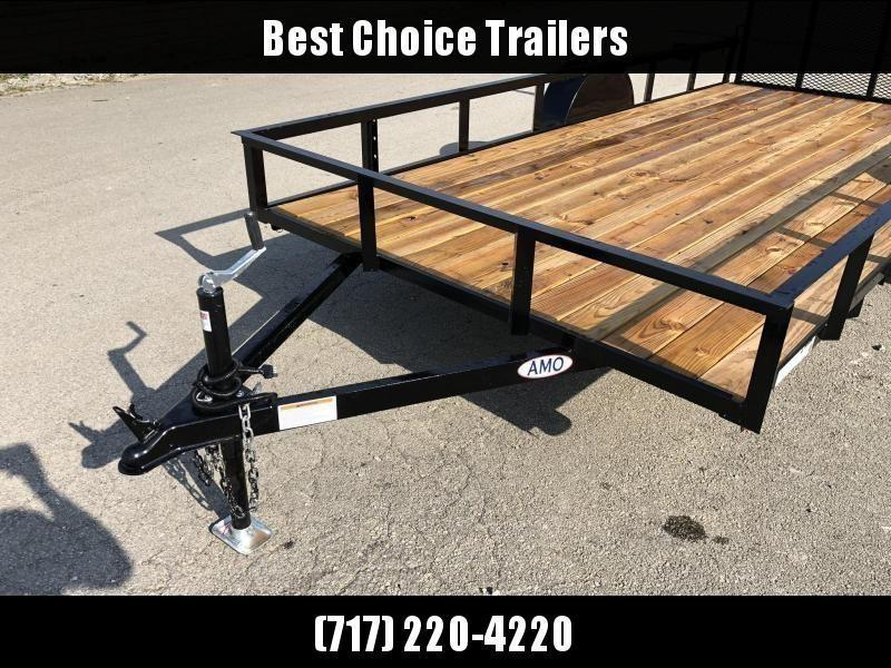 "2020 AMO 78x14' Utility Landscape Trailer 2990# GVW * 4' GATE * TOOLESS GATE REMOVAL * 3500# AXLE * 15"" RADIAL TIRES"
