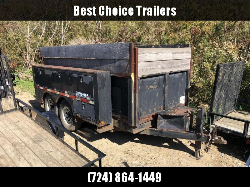 USED 7x12' Bri Mar Dump Trailer 12000# GVW * HIGH SIDES * CUSTOM TOOLBOXES * 12K JACK