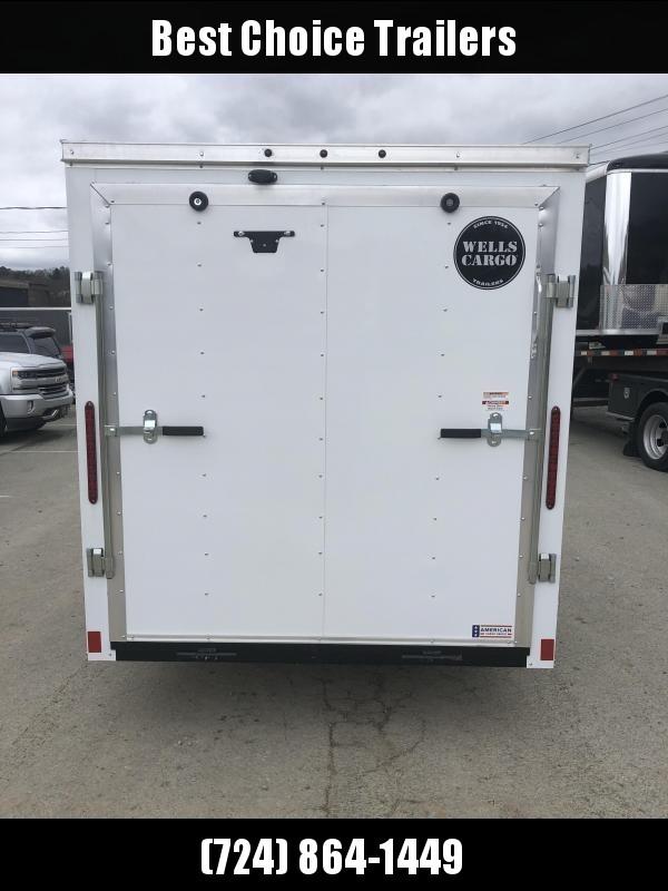 """2020 Wells Cargo 6x12' Fastrac Enclosed Cargo Trailer 2990# GVW * WHITE EXTERIOR * RAMP DOOR * 1PC ROOF  * 16"""" O.C."""