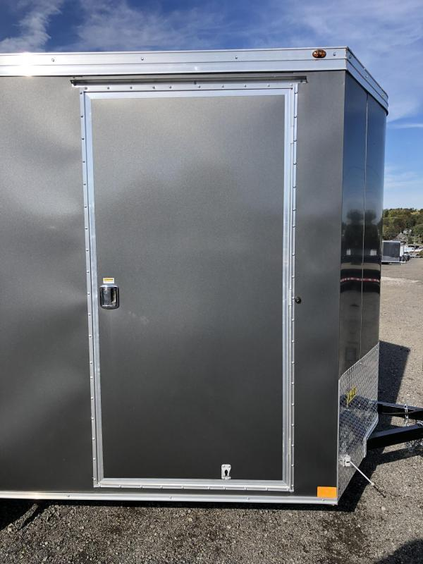 "2019 Wells Cargo 6x10' Road Force Enclosed Cargo Trailer 2990# GVW * SILVER EXTERIOR * RAMP DOOR * SCREWLESS .030 EXTERIOR * 1PC ALUM ROOF * 6'6"" HEIGHT * TUBE STUDS * 16"" O.C WALLS * ARMOR GUARD TONGUE"