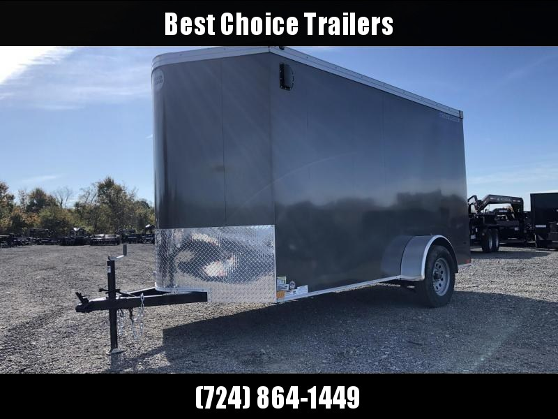"2019 Wells Cargo 6x10' Road Force Enclosed Cargo Trailer 2990# GVW * SILVER EXTERIOR * RAMP DOOR * V-NOSE * SCREWLESS .030 EXTERIOR * 6'6"" HEIGHT * TUBE STUDS * 1 PC ROOF * 16"" O.C. C/M * ARMOR GUARD * RV DOOR * BULLET LED'S * CLEARANCE"