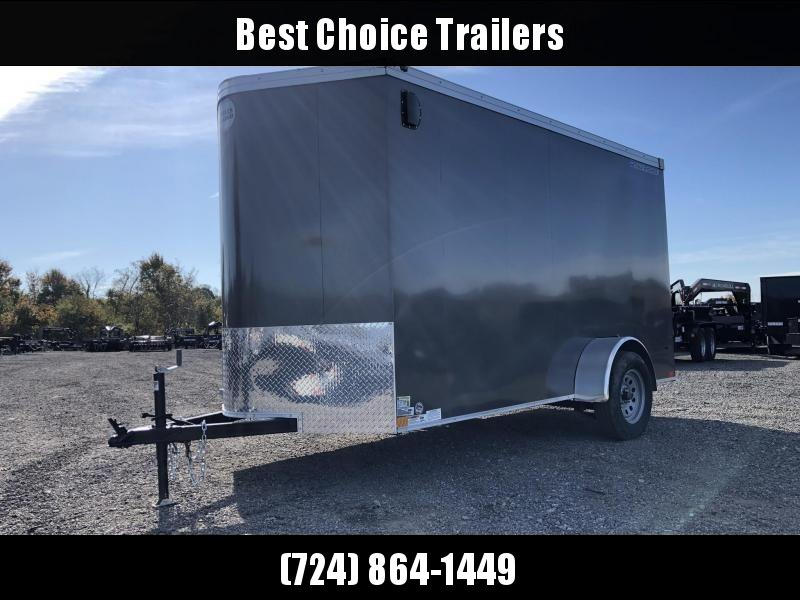 """2019 Wells Cargo 6x10' Road Force Enclosed Cargo Trailer 2990# GVW * SILVER EXTERIOR * RAMP DOOR * V-NOSE * SCREWLESS .030 EXTERIOR * 6'6"""" HEIGHT * TUBE STUDS * 1 PC ROOF * 16"""" O.C. C/M * ARMOR GUARD * RV DOOR * BULLET LED'S * CLEARANCE"""