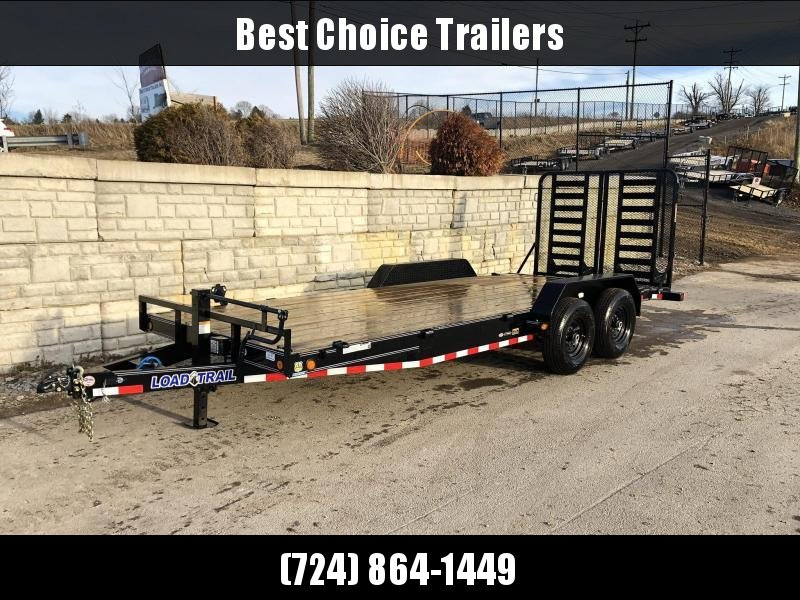 2019 Load Trail 7x20' Equipment Trailer 14000# GVW * CH8320072-Gate * 5' HD GATE * SPARE TIRE MOUNT * COLD WEATHER HARNESS * DEXTER'S * 2-3-2 * POWDER PRIMER