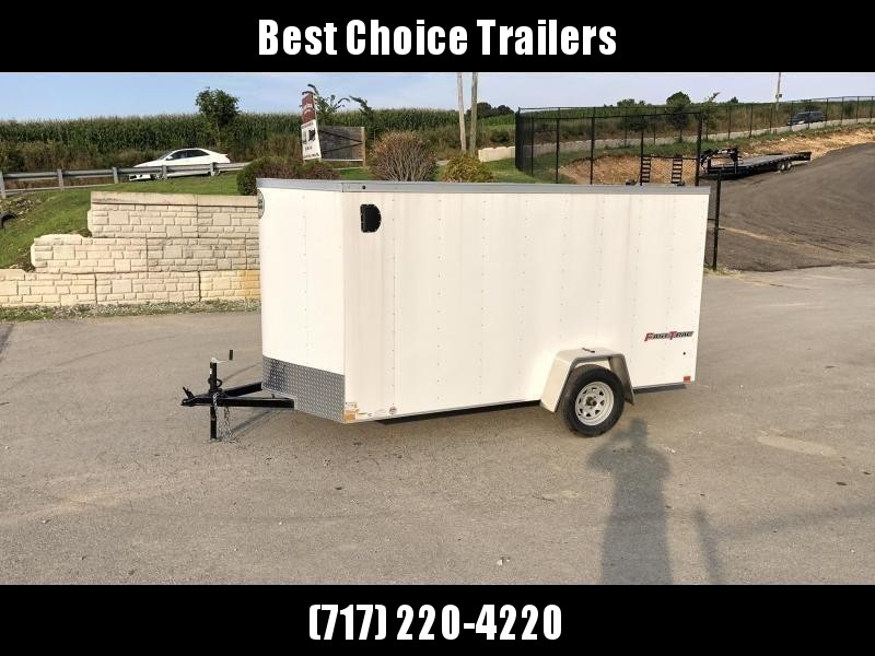 2019 Wells Cargo 6x12' Fastrac Enclosed Cargo Trailer 2990# GVW * WHITE EXTERIOR * RAMP DOOR