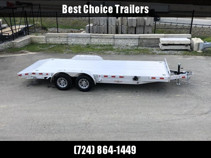 2019 H&H 7x20' Aluminum Car Hauler Trailer 9990# GVW * LOADED * EXTRUDED ALUMINUM FLOOR * TORSION AXLES * SWIVEL D-RINGS * EXTRA STAKE POCKETS * CLEARANCE