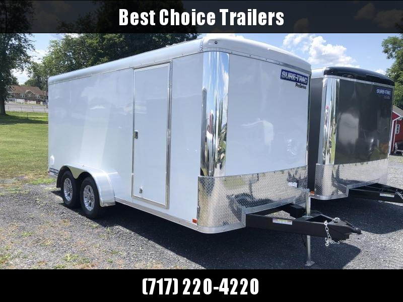 2020 Sure-Trac 7x16' Enclosed Cargo Trailer 7000# GVW * SCREWLESS EXTERIOR * ROUND TOP * ALUMINUM WHEELS
