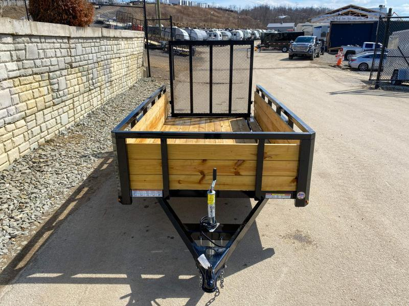 """2020 Sure-Trac 5x10' High Side Utility Landscape Trailer 2990# GVW * 24"""" 3-BOARD HIGH SIDE * 2"""" TUBE TOP RAIL * 2X2"""" TUBE GATE C/M + SPRING ASSIST + FOLD FLAT * TOOLESS GATE REMOVAL * SPARE MOUNT * PROTECTED WIRING * SET BACK JACK * TRIPLE TUBE TONGUE * D"""