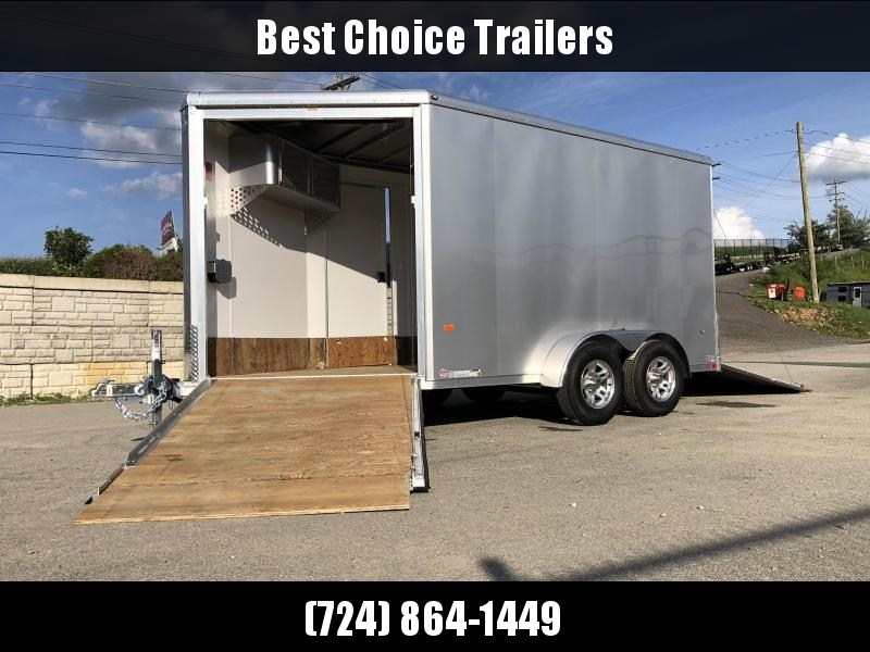 2020 Neo 7x16' Aluminum Enclosed All-Sport Trailer * SILVER * 7' HEIGHT UPGRADE UTV PKG  * LOTS OF OPTIONS * FINISHED WALLS * FRONT RAMP * UTV * ATV * Motorcycle * Snowmobile