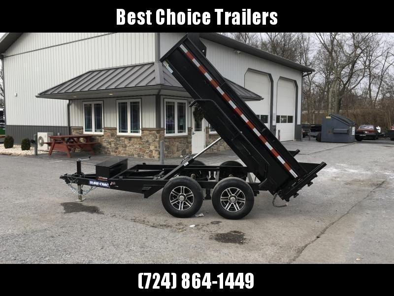 "2020 Sure-Trac 6x10' Dump Trailer 9900# GVW * ADJUSTABLE COUPLER * UNDERMOUNT RAMPS * COMBO GATE * 7K DROP LEG JACK * FRONT/REAR BULKHEAD * INTEGRATED KEYWAY * SPARE MOUNT * HD FENDERS * 4"" TUBE BEDFRAME * TRIPLE TUBE TONGUE * POWDERCOATED"