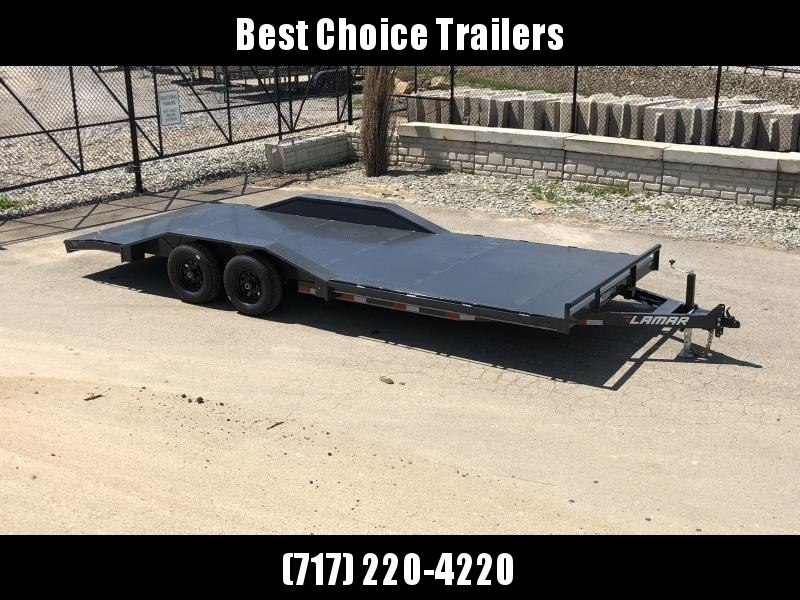 "2020 Lamar 102x22' Buggy Hauler Car Trailer 9990# GVW * 102"" DECK * DRIVE OVER FENDERS * 11GA STEEL DECK * CHARCOAL POWDERCOATING * 7K DROP LEG JACK * CHANNEL C/M * ADJUSTABLE COUPLER * RUBRAIL"