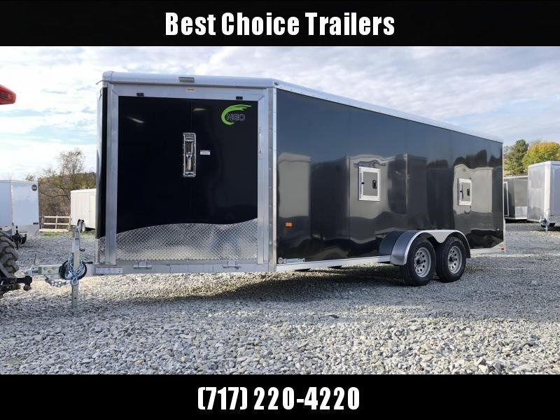 2019 Neo 7x22' NASR Aluminum Enclosed All-Sport Trailer * DELUXE MODEL * BLACK * UTV * ATV * Motorcycle * Snowmobile * CLEARANCE