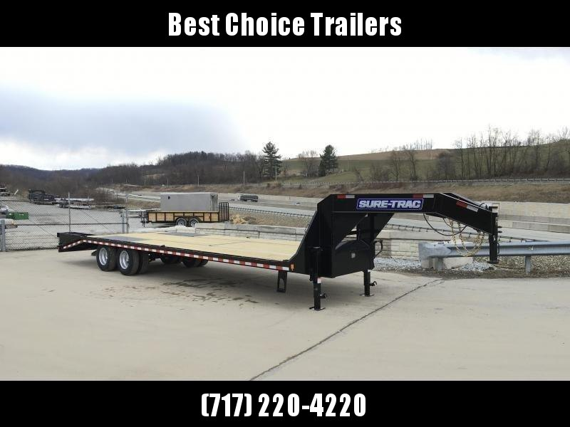 2020 Sure-Trac 102x25+5 Gooseneck Beavertail Deckover Trailer 22000# GVW * DUAL TANDEM * PIERCED FRAME * 2 FLIPOVER RAMPS