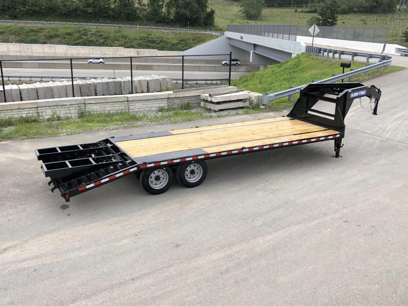 NEW Sure-Trac 102x20+5 17600# Gooseneck Beavertail Deckover Trailer * 8000# AXLE UPGRADE * PIERCED FRAME * CLEARANCE