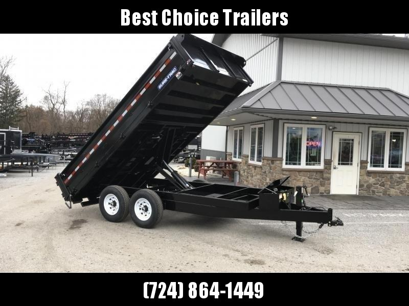 """2019 Sure-Trac 8x16' Deckover Dump Trailer 14000# GVW * 20"""" FOLD DOWN SIDES * EXTENDED 90"""" UNDERMOUNT RAMPS * OVERSIZE 8"""" TUBE TONGUE/6"""" HEAVY WALL FRAME * 12K JACK * 6"""" SCISSOR HOIST * INTEGRATED KEYWAY * UNDERBODY TOOL TRAY * CLEARANCE"""