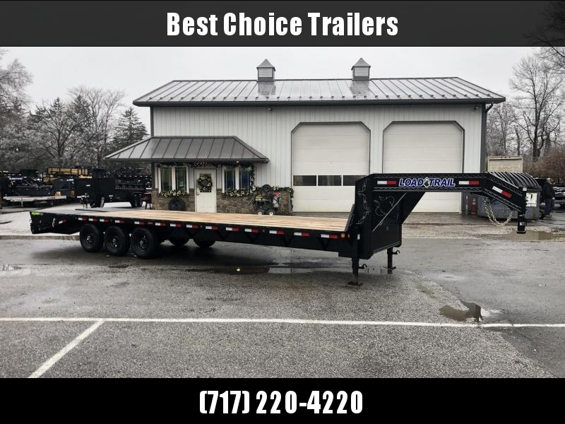 "2020 Load Trail 102x30' Gooseneck Beavertail Deckover Flatbed 21000# Trailer * GH0230073 * MAX Ramps * Dexter Axles * 12"" I-Beam * Zinc Primer * Full toolbox/Dual jacks"